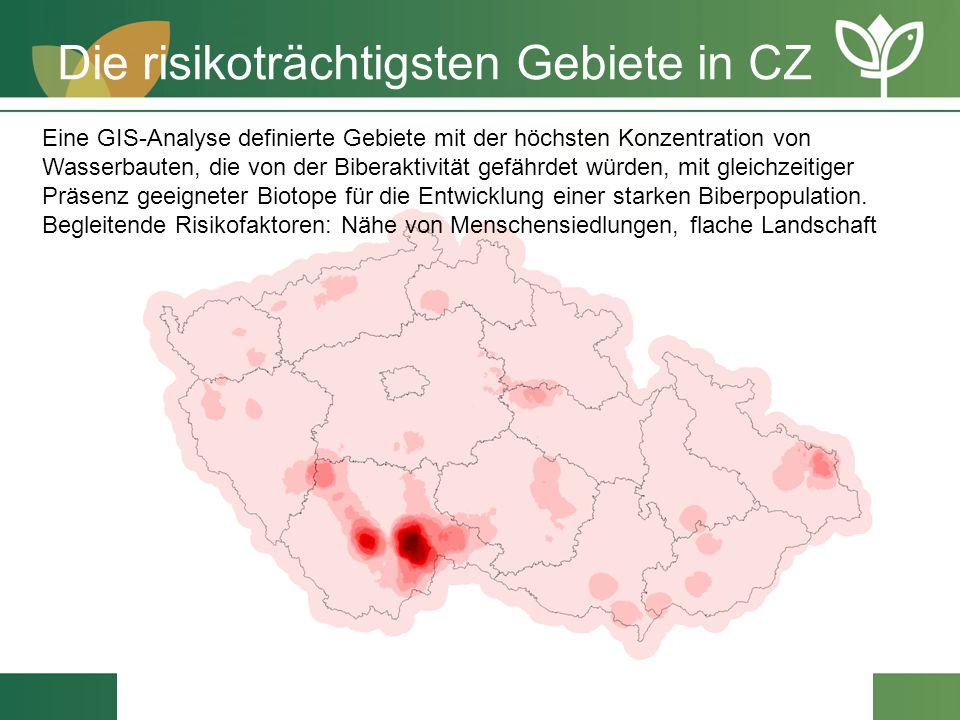 Die risikoträchtigsten Gebiete in CZ