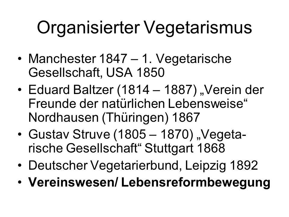 Organisierter Vegetarismus