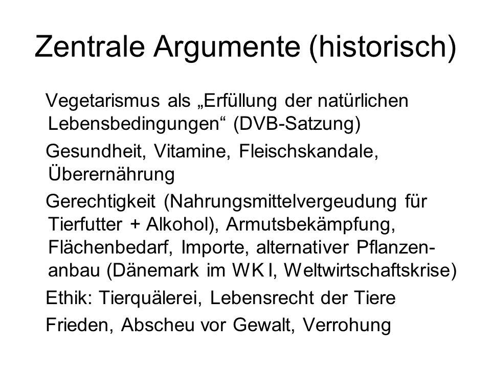 Zentrale Argumente (historisch)