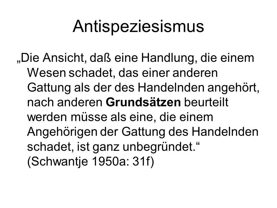 Antispeziesismus