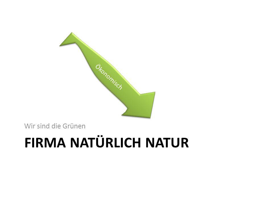 Ökonomisch Wir sind die Grünen Firma Natürlich Natur