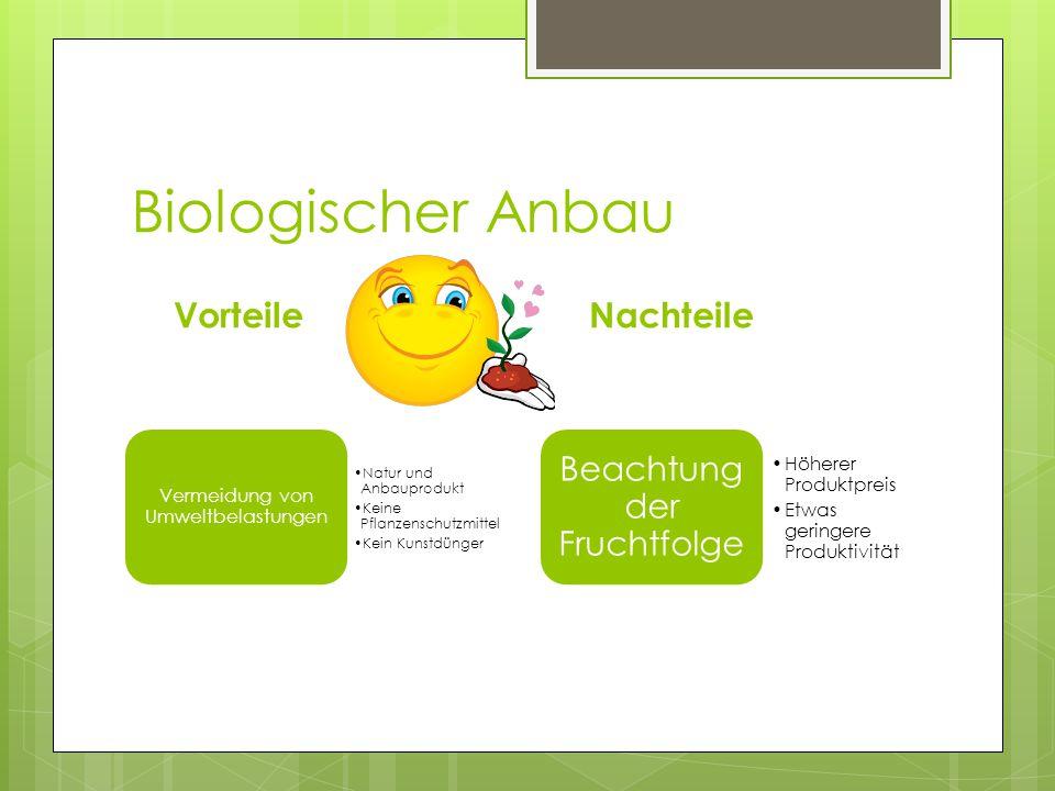 Biologischer Anbau Vorteile Nachteile Beachtung der Fruchtfolge