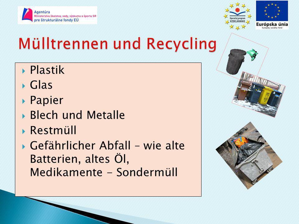 Mülltrennen und Recycling