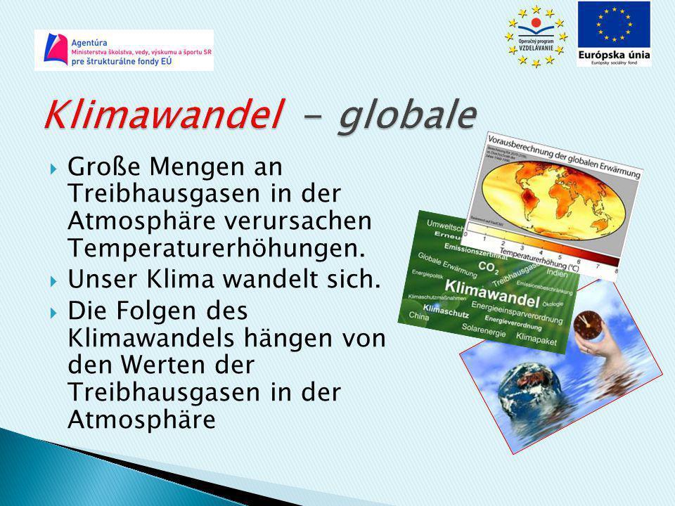Klimawandel - globale Große Mengen an Treibhausgasen in der Atmosphäre verursachen Temperaturerhöhungen.