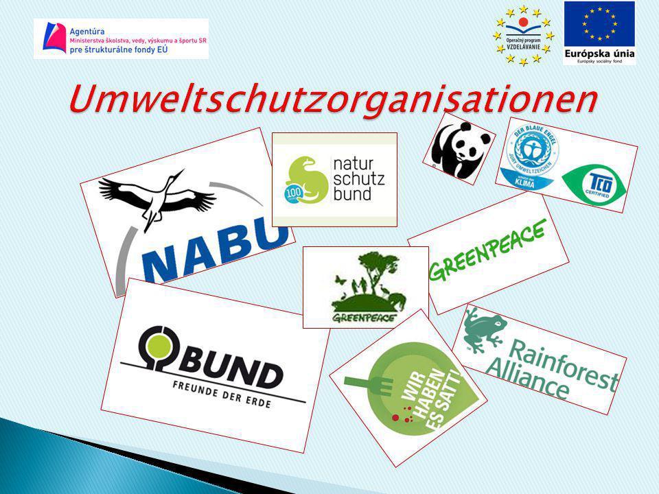 Umweltschutzorganisationen