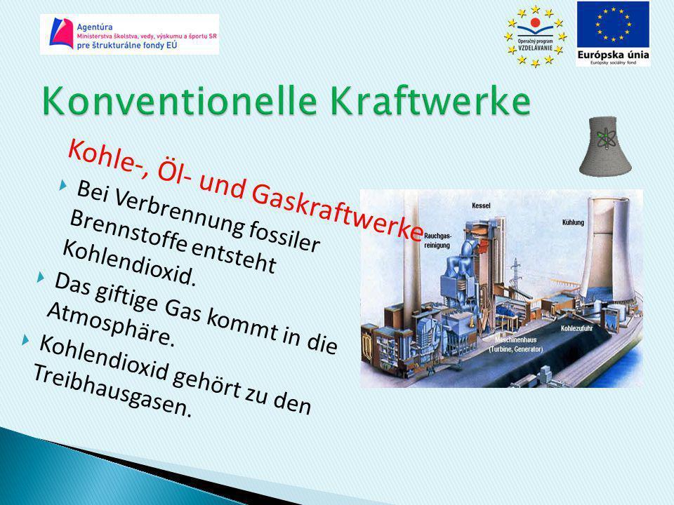 Konventionelle Kraftwerke
