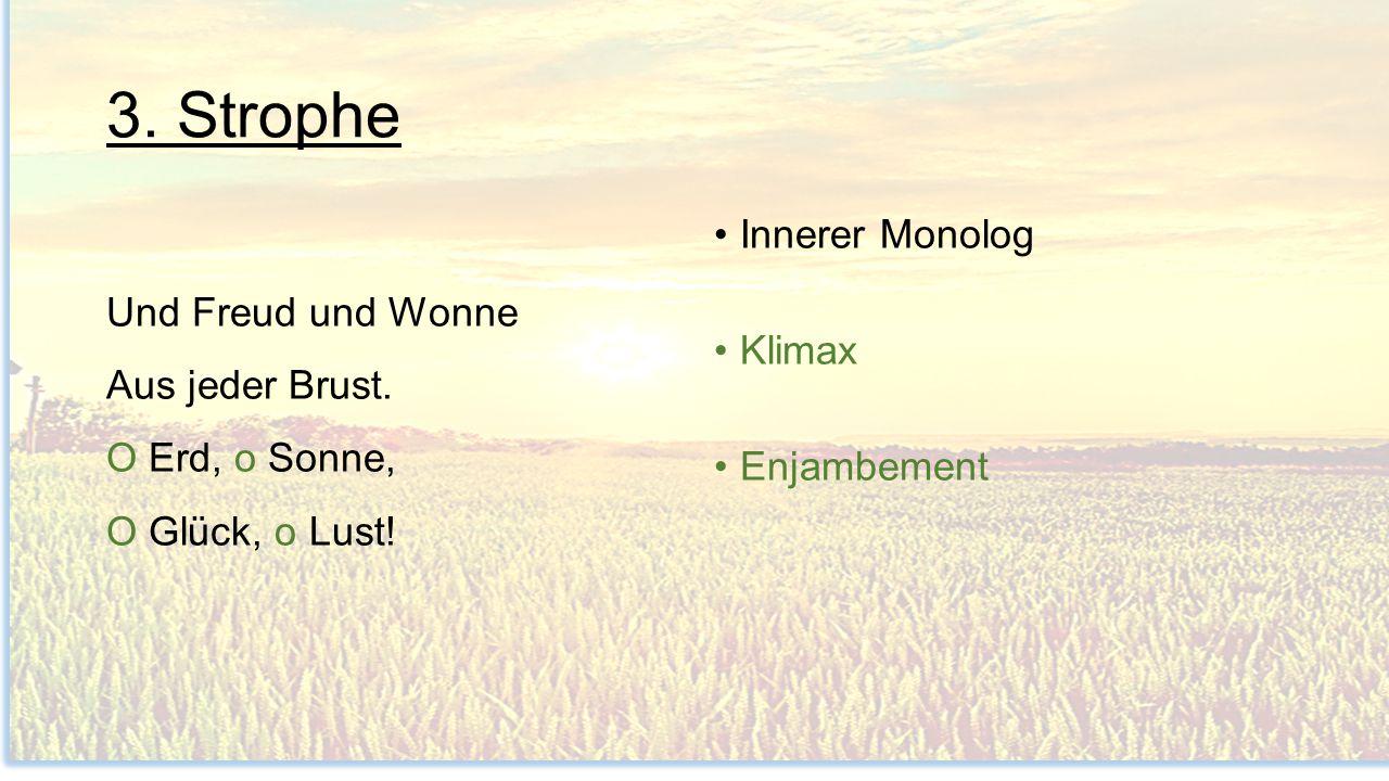 3. Strophe Innerer Monolog