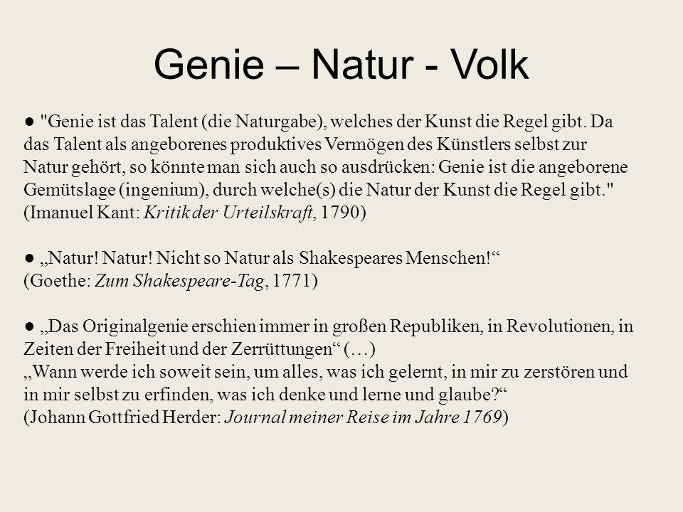 Genie – Natur - Volk