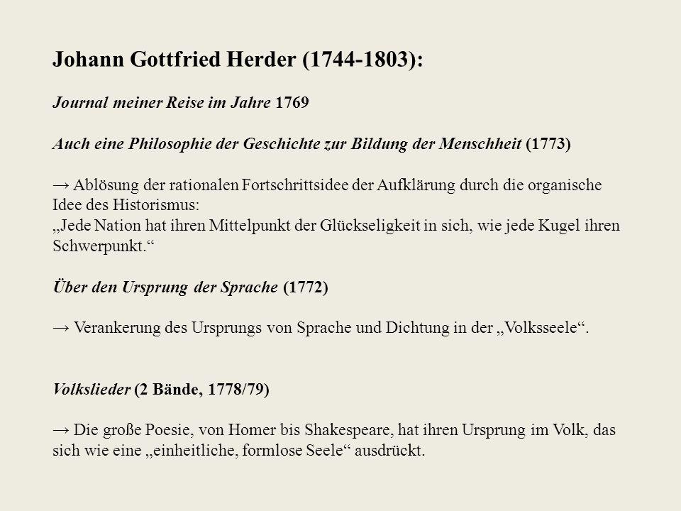 Johann Gottfried Herder (1744-1803):