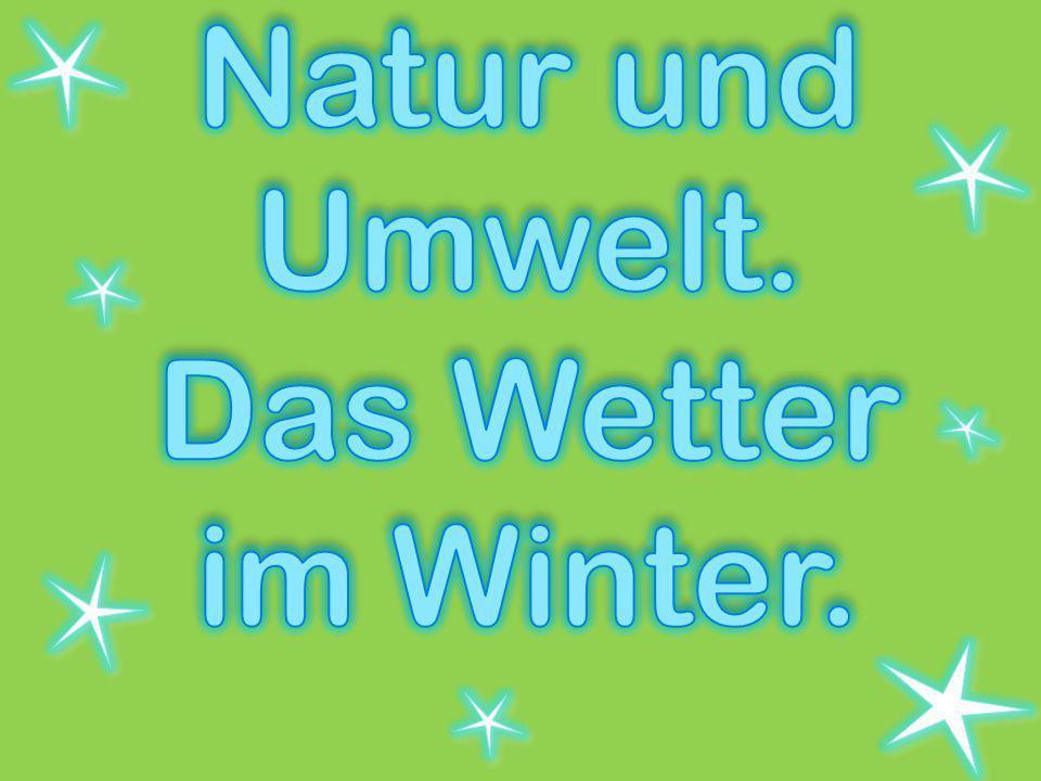 Natur und Umwelt. Das Wetter im Winter.