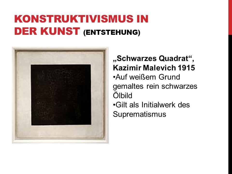 Konstruktivismus in der Kunst (Entstehung)