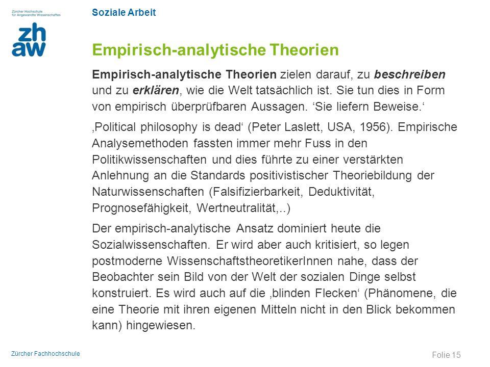 Empirisch-analytische Theorien