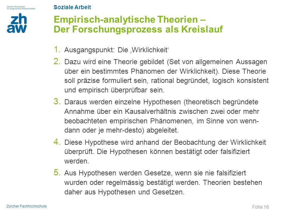Empirisch-analytische Theorien – Der Forschungsprozess als Kreislauf