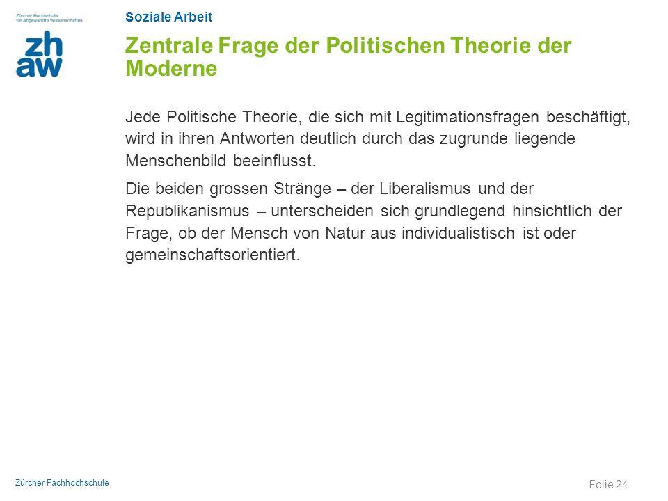 Zentrale Frage der Politischen Theorie der Moderne