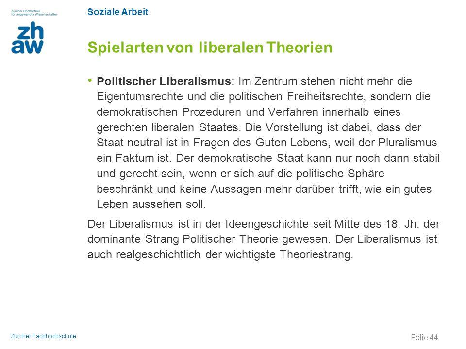 Spielarten von liberalen Theorien