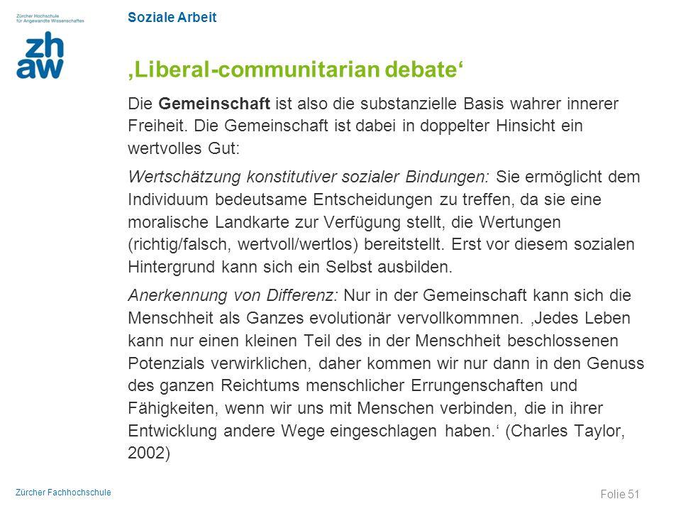 'Liberal-communitarian debate'