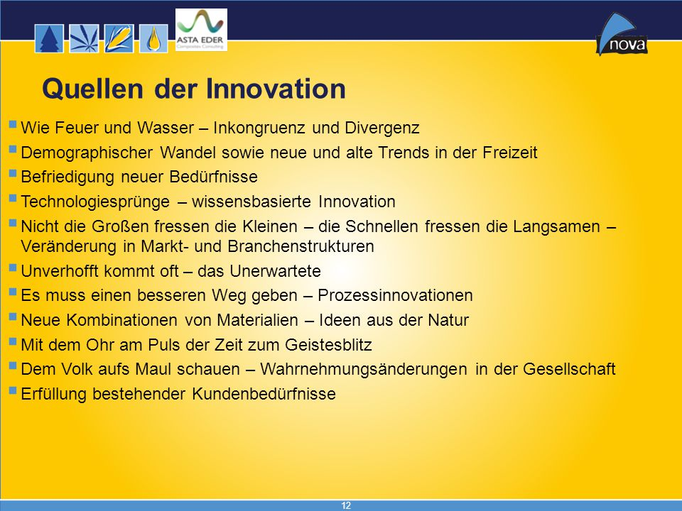Quellen der Innovation