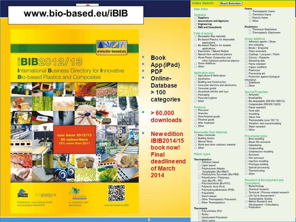 www.bio-based.eu/iBIB Book App (iPad) PDF