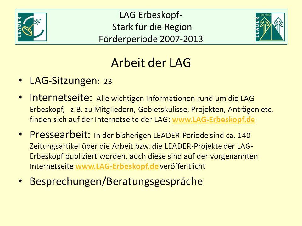 LAG Erbeskopf- Stark für die Region Förderperiode 2007-2013