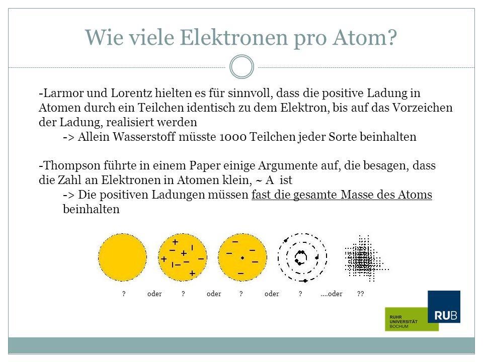 Wie viele Elektronen pro Atom