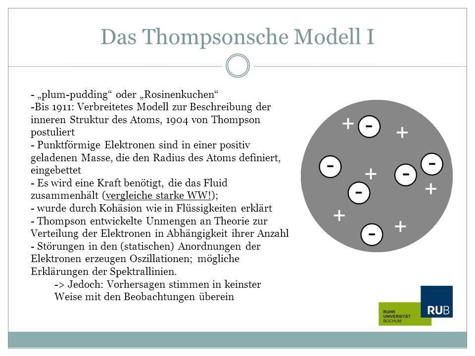 Das Thompsonsche Modell I