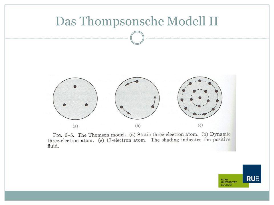 Das Thompsonsche Modell II