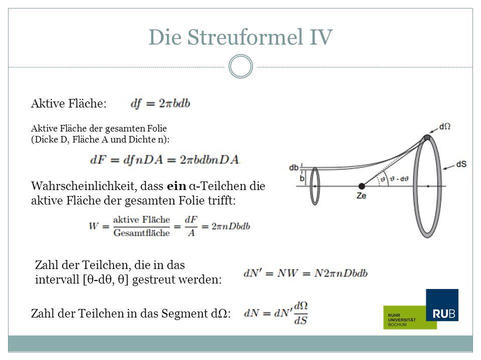 Die Streuformel IV Aktive Fläche: