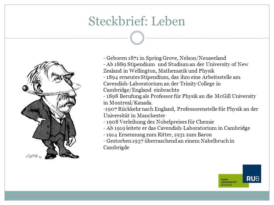 Steckbrief: Leben Geboren 1871 in Spring Grove, Nelson/Neuseeland