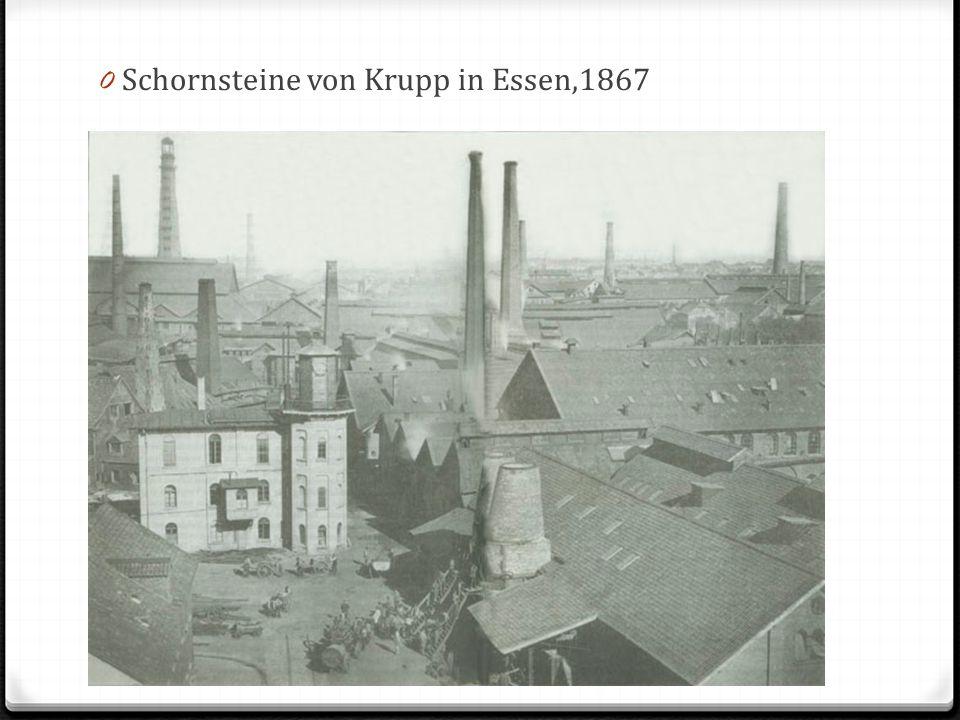 Schornsteine von Krupp in Essen,1867