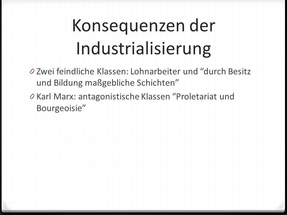 Konsequenzen der Industrialisierung