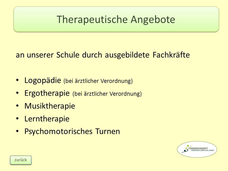 Therapeutische Angebote