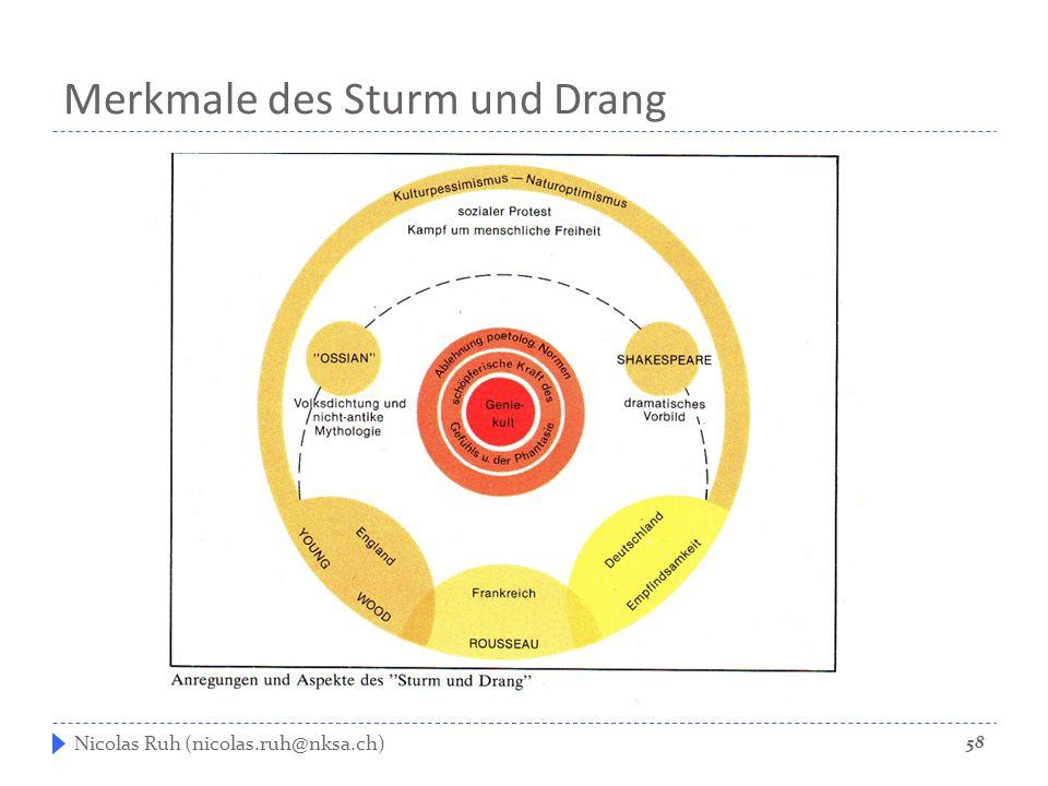 Merkmale des Sturm und Drang