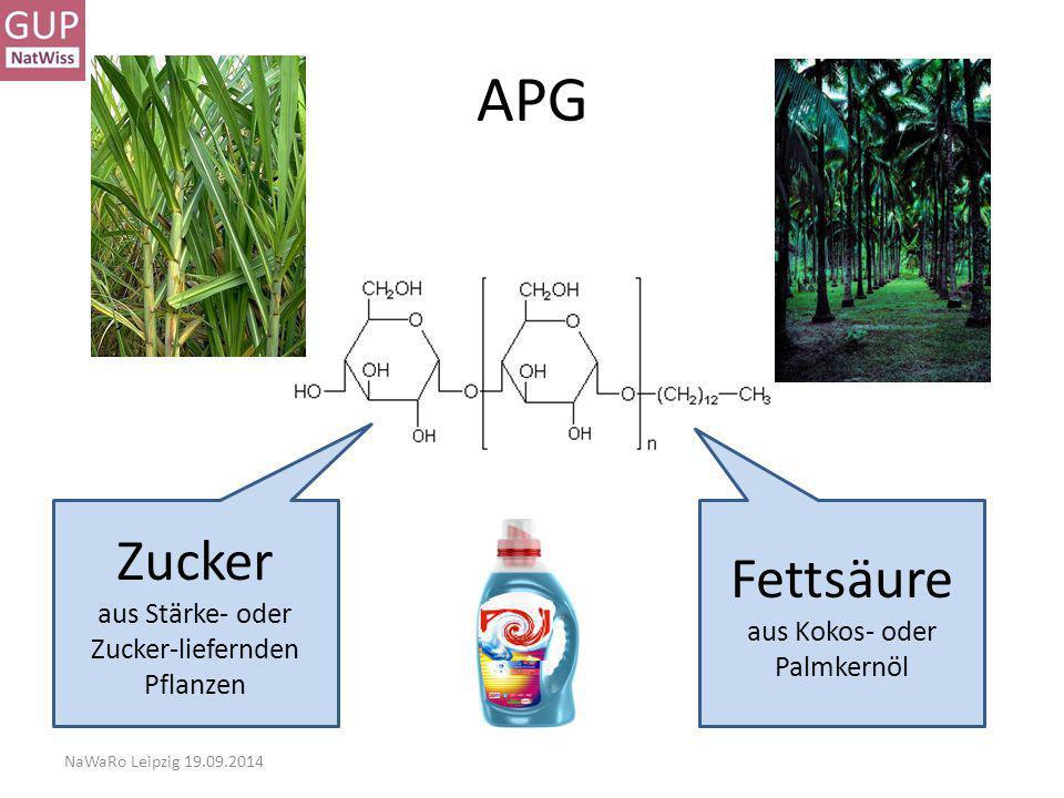 APG Zucker Fettsäure aus Stärke- oder Zucker-liefernden Pflanzen