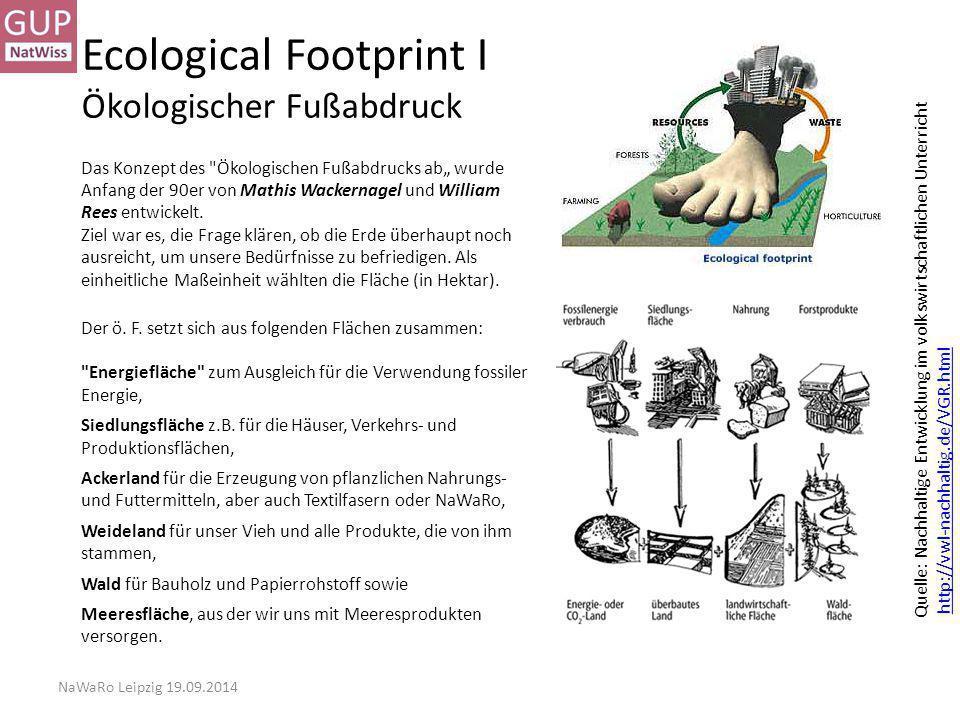 Ecological Footprint I Ökologischer Fußabdruck
