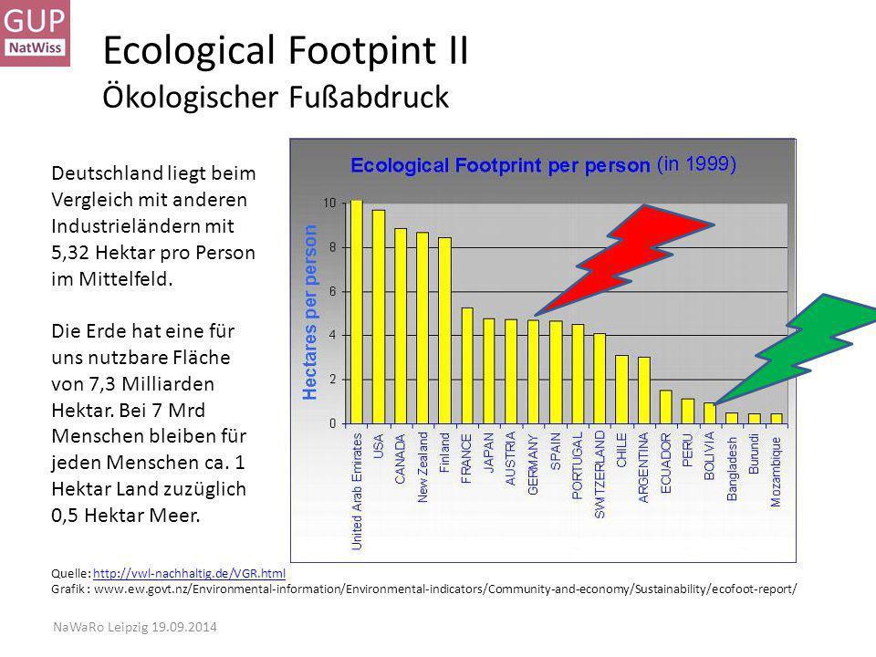 Ecological Footpint II Ökologischer Fußabdruck