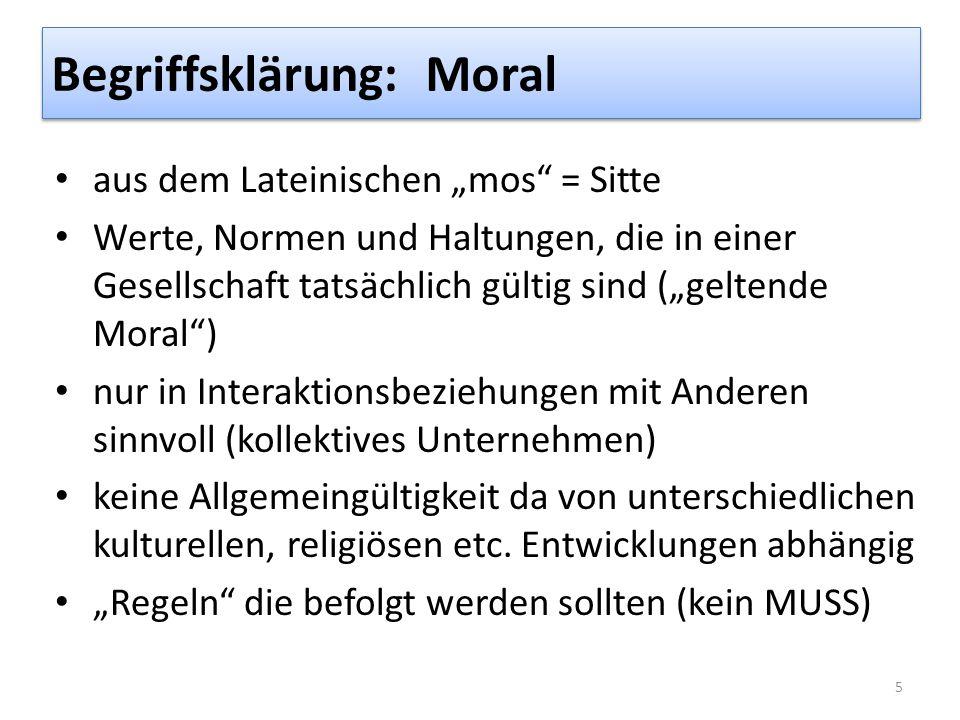 Begriffsklärung: Moral