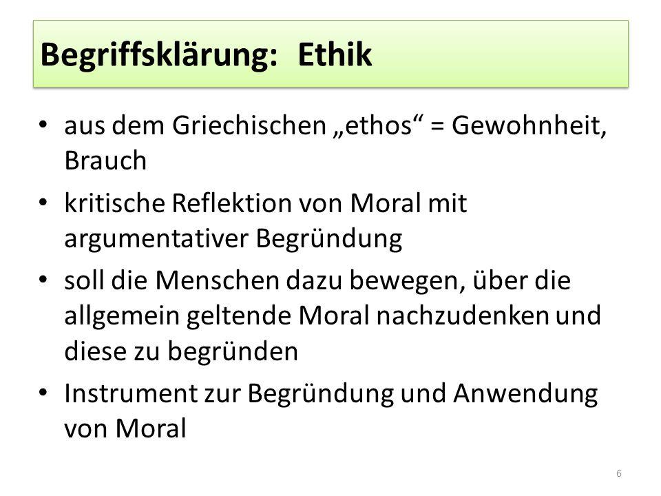 Begriffsklärung: Ethik