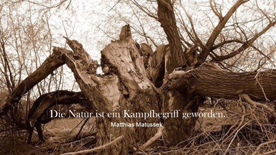 Die Natur ist ein Kampfbegriff geworden.
