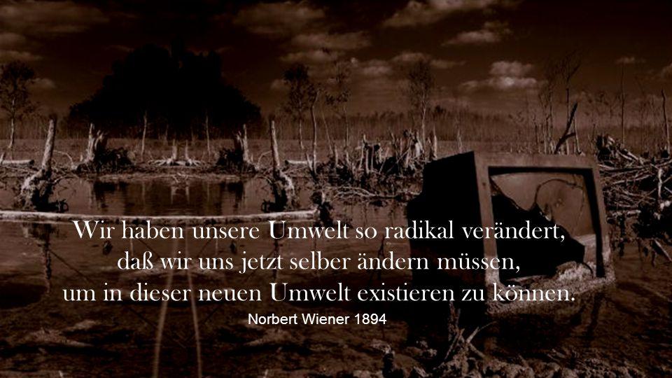 Wir haben unsere Umwelt so radikal verändert,