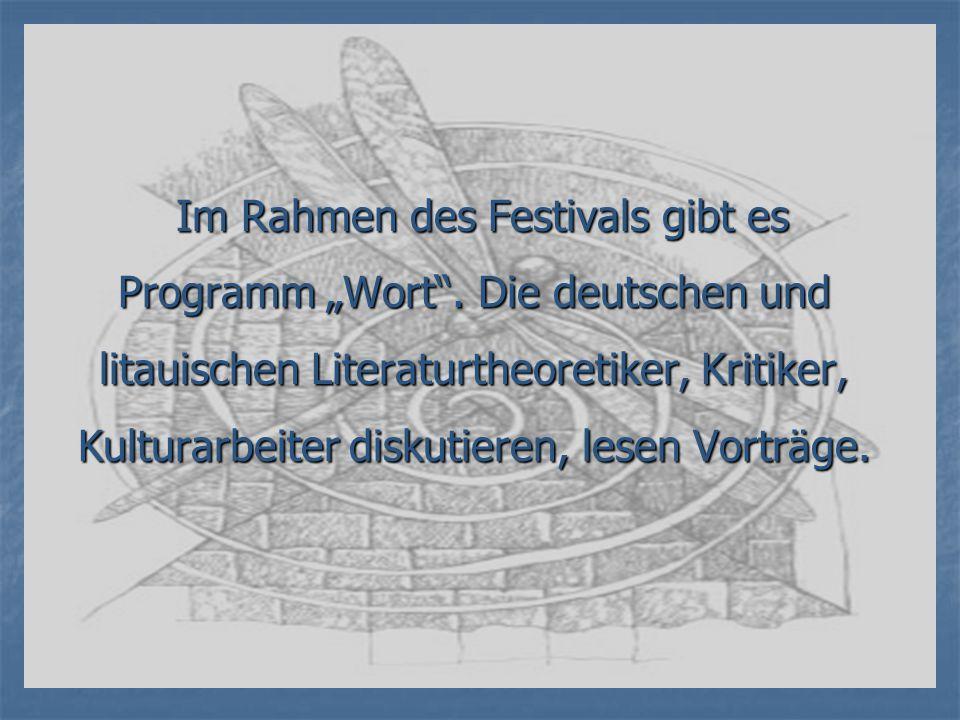 """Im Rahmen des Festivals gibt es Programm """"Wort"""