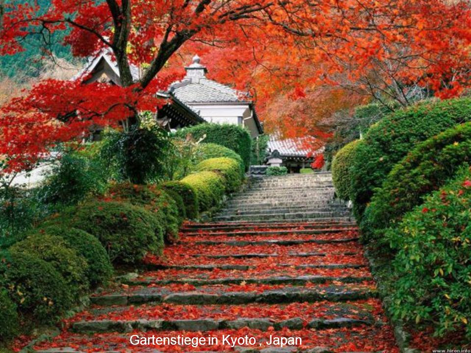 Gartenstiege in Kyoto , Japan