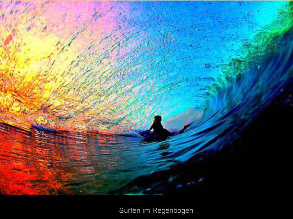 Surfen im Regenbogen