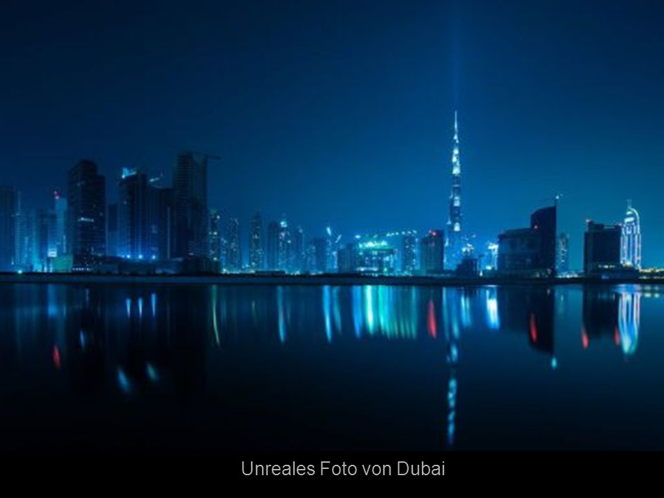 Unreales Foto von Dubai