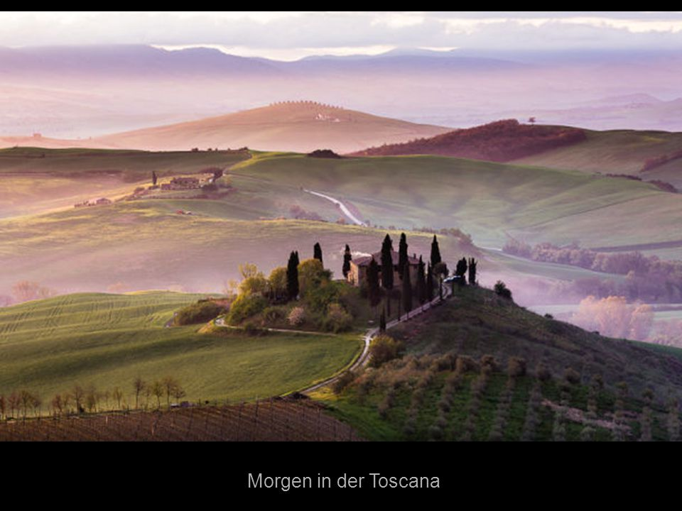 Morgen in der Toscana