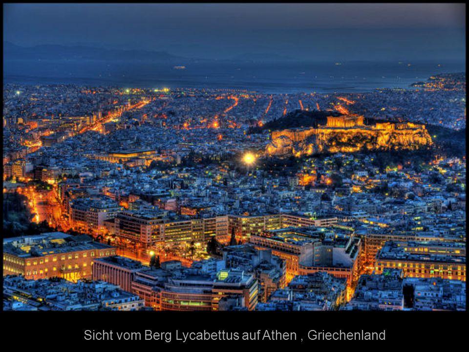 Sicht vom Berg Lycabettus auf Athen , Griechenland