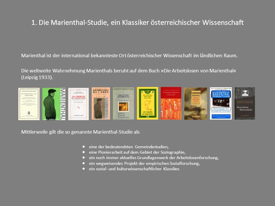 1. Die Marienthal-Studie, ein Klassiker österreichischer Wissenschaft