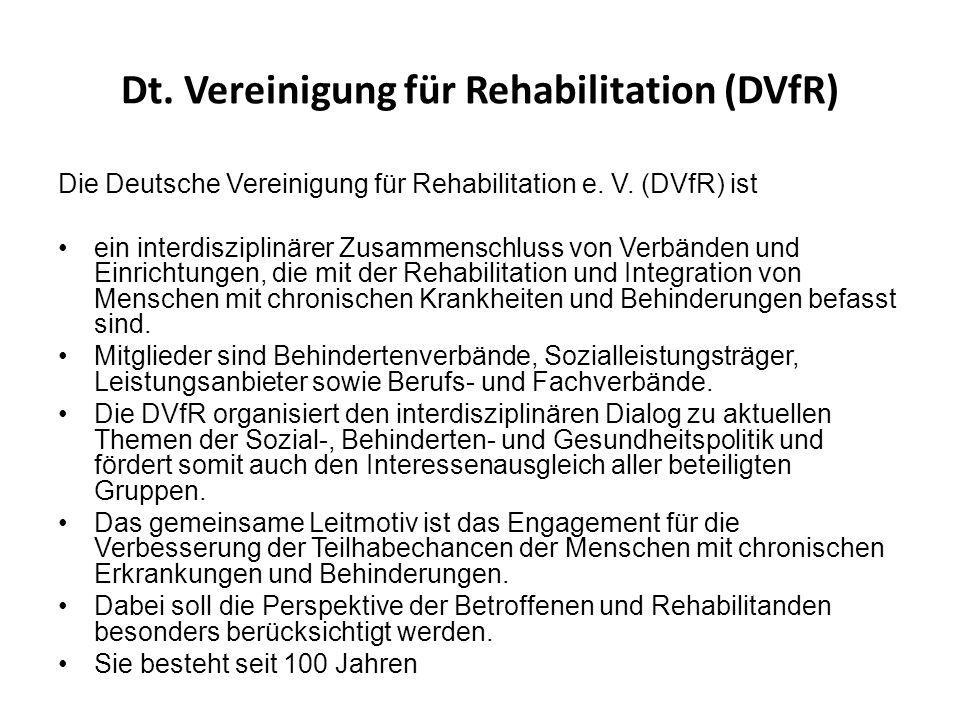 Dt. Vereinigung für Rehabilitation (DVfR)