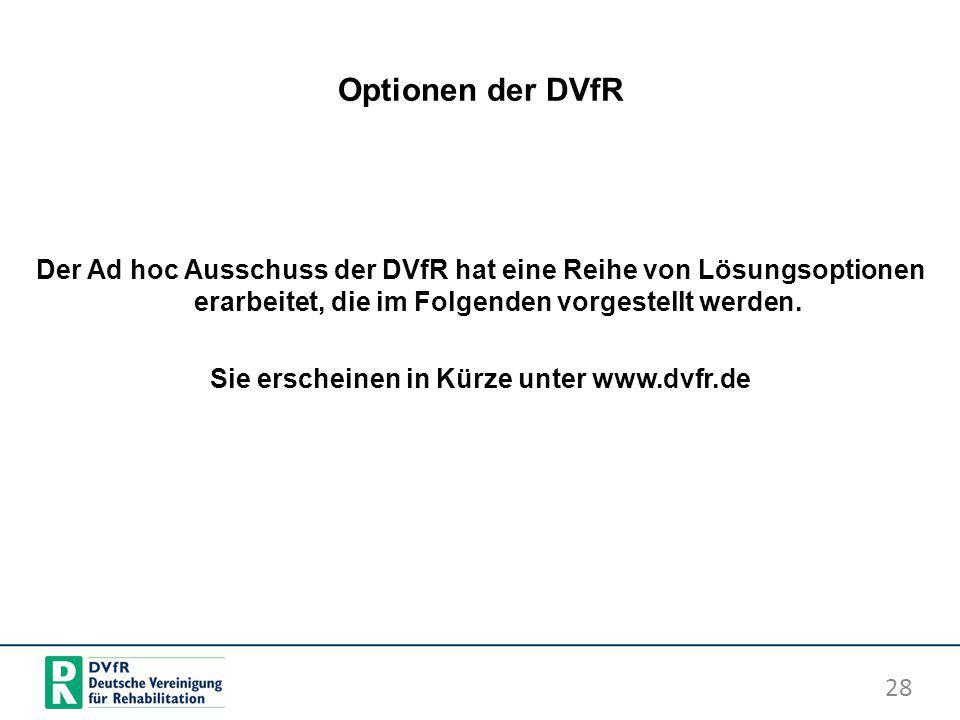 Sie erscheinen in Kürze unter www.dvfr.de