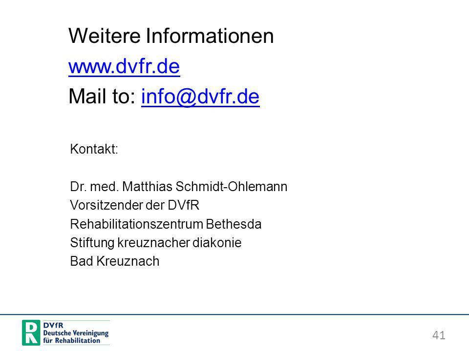 Weitere Informationen www.dvfr.de Mail to: info@dvfr.de