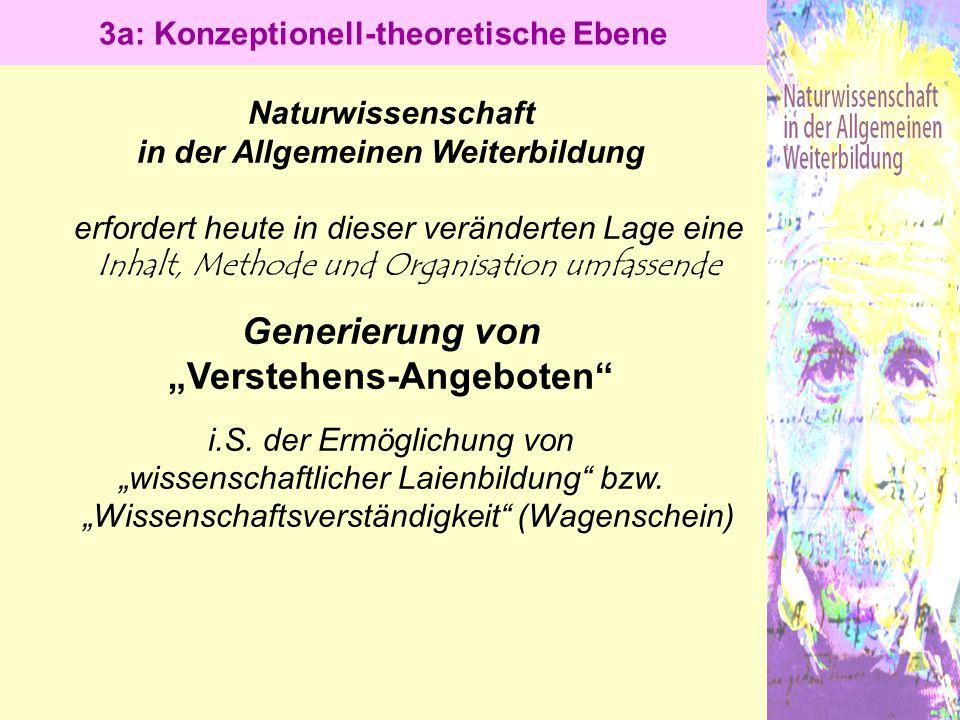 """3a: Konzeptionell-theoretische Ebene """"Verstehens-Angeboten"""